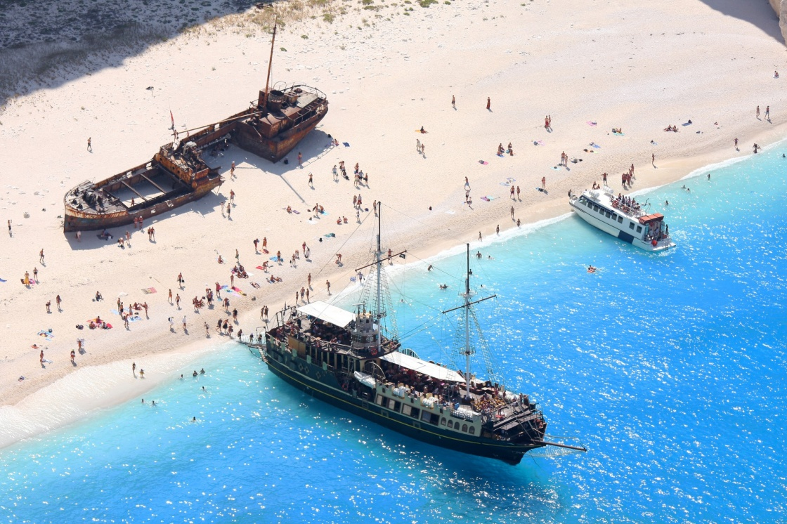 Nagio Beach With Shipwreck In Zakynthos Greece